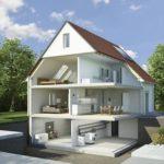 Lohnt sich der Kellerbau? Einfamilienhaus im Querschnitt möbliert