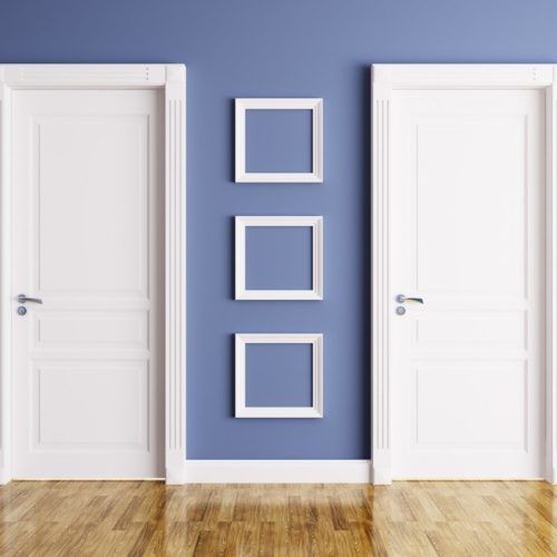 Zwei Türen nebeneinader: Privatsphäre mit Einliegerwohnungen