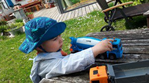 Oscar und Baufahrzeuge