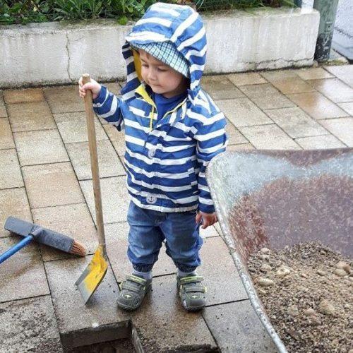 Oskar ist bereit für den Baubeginn