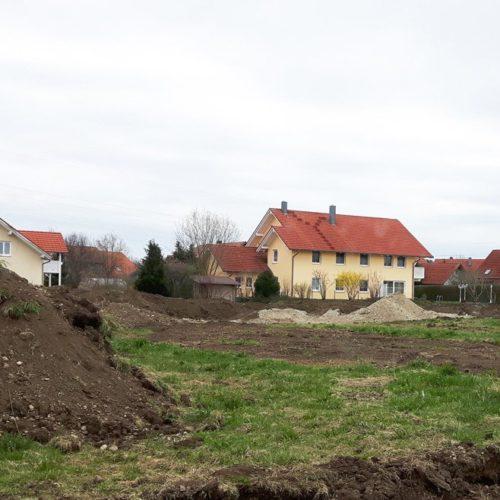 Grundstücksfläche wird bebaut