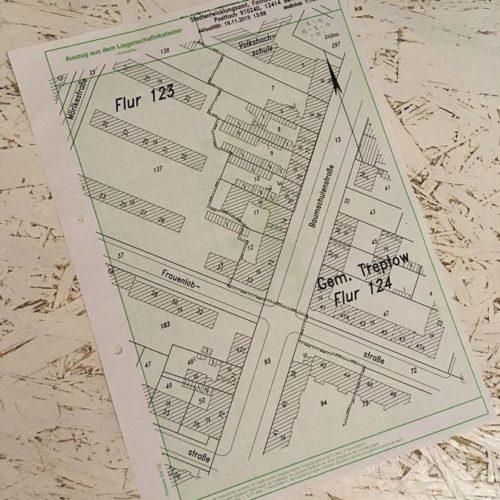 Auszug aus dem Liegenschaftskataster, Bauantrag