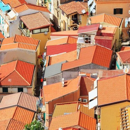 Dach Formen Luftbild
