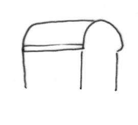 Tonnendach Skizze