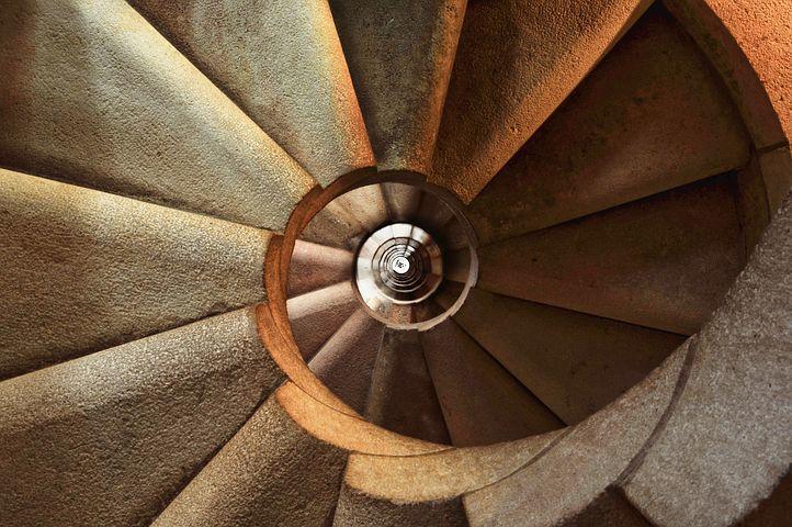 Treppenauge, Sicht von oben